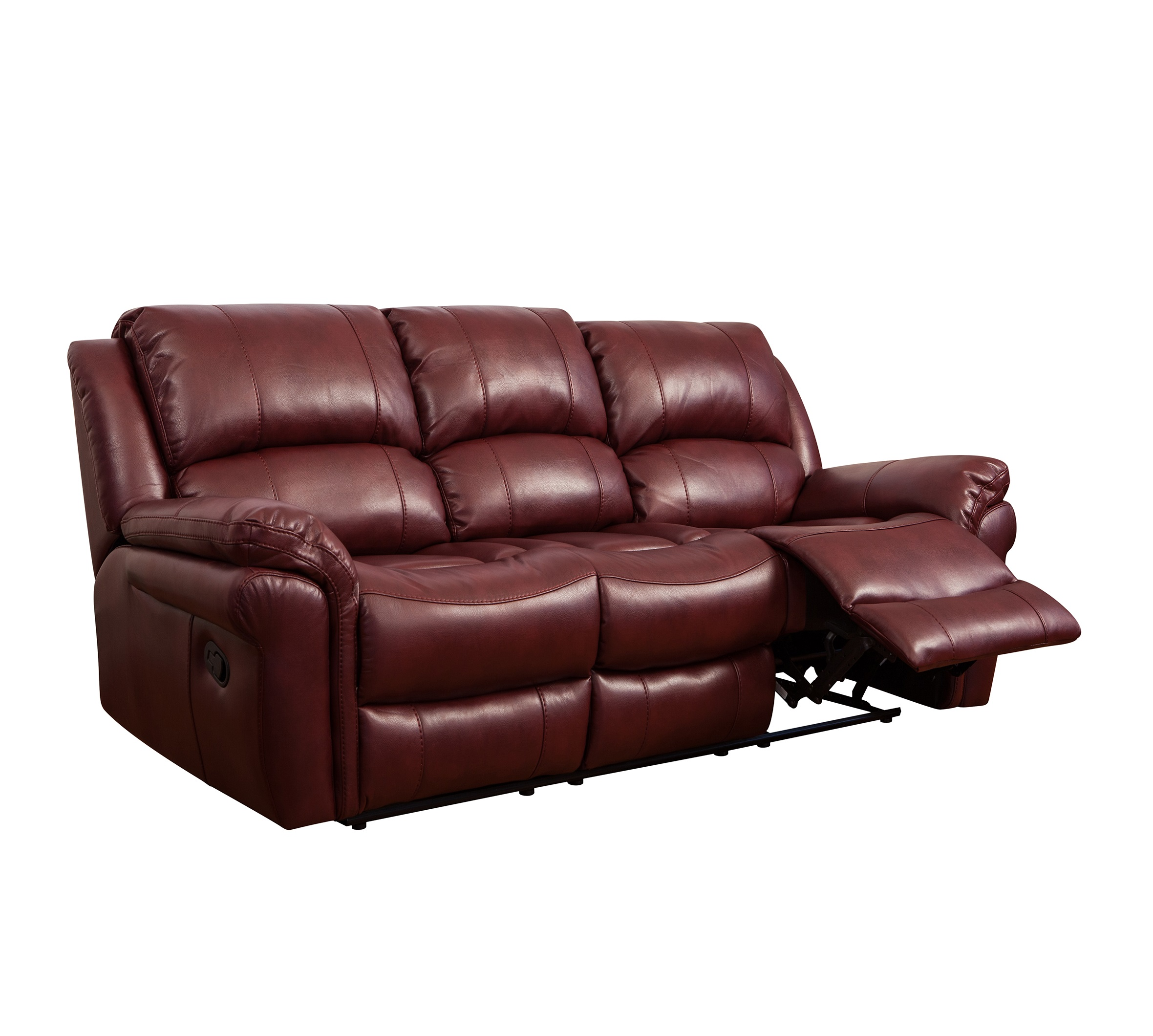 Modern American Style Furniture Rocker Functional Leather Recliner Sofa
