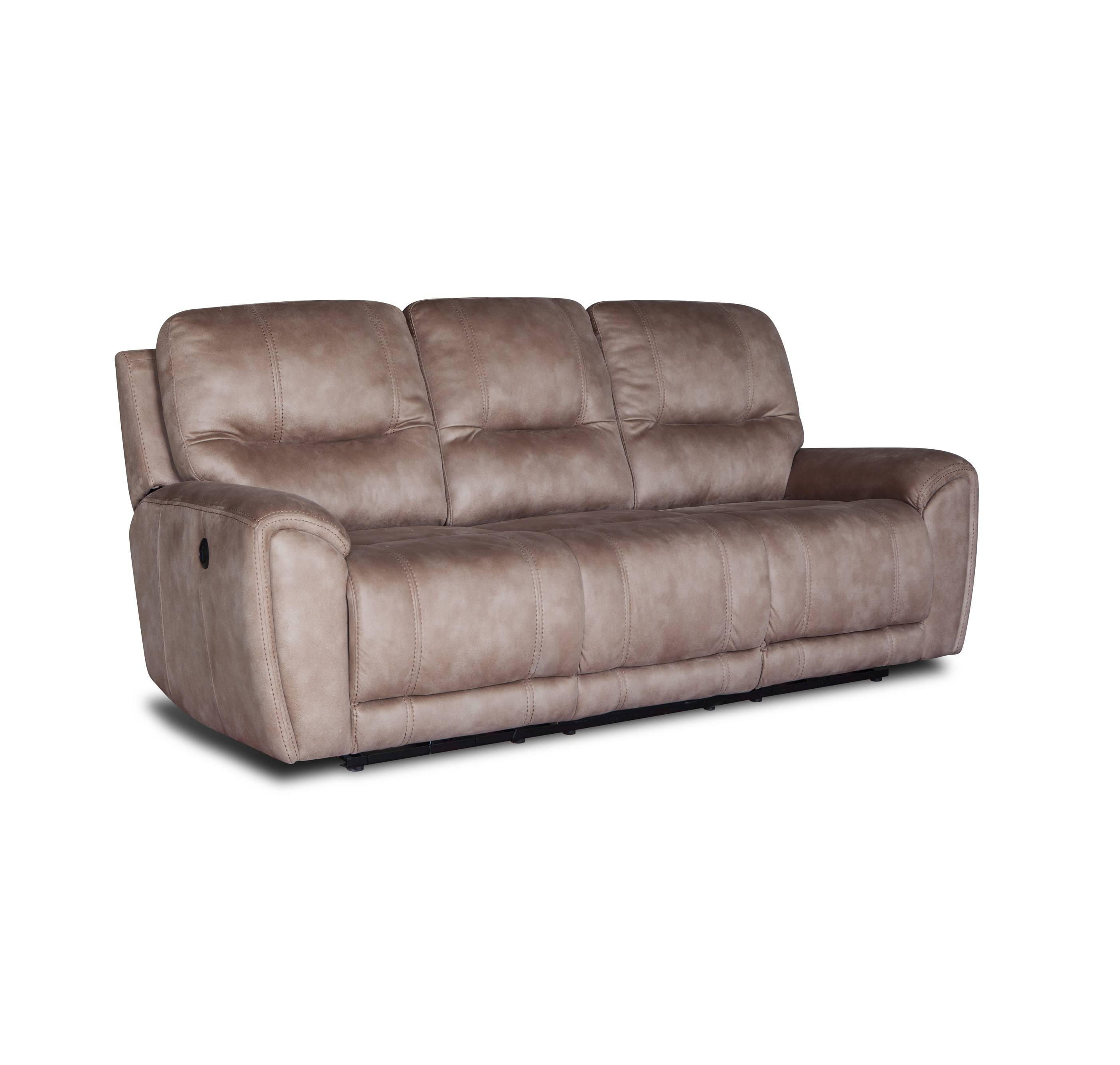Living room furniture 3+2+1 Leather power recliner sofa
