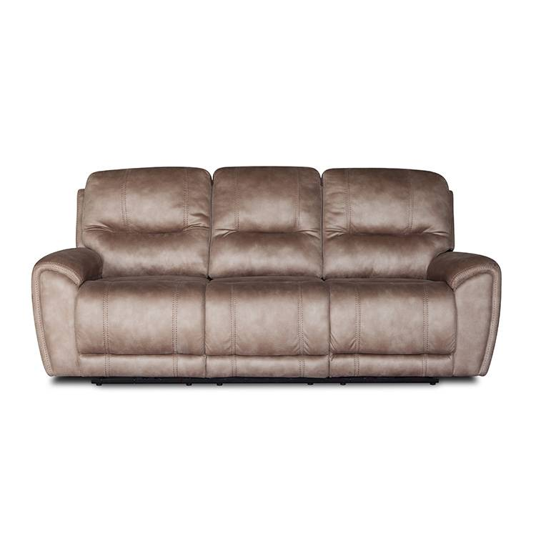 Solid color simple style Office commercial Leather power recliner sofa