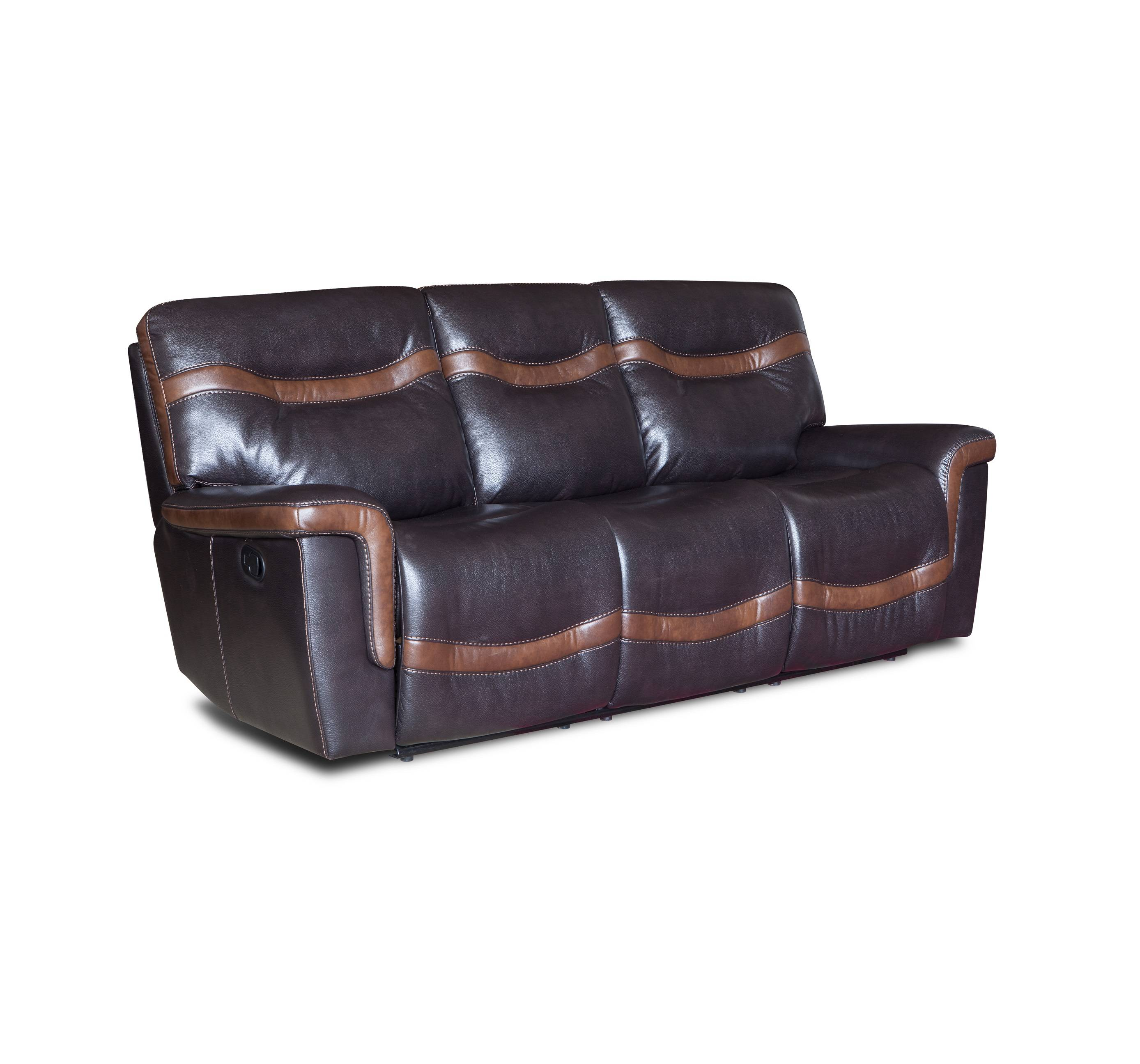 Stitching style sofa set 3+2+1 leather electric recliner sofa