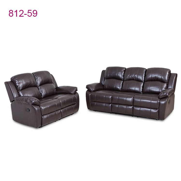 Fast delivery brown leather sofa set 3+2 living room furniture