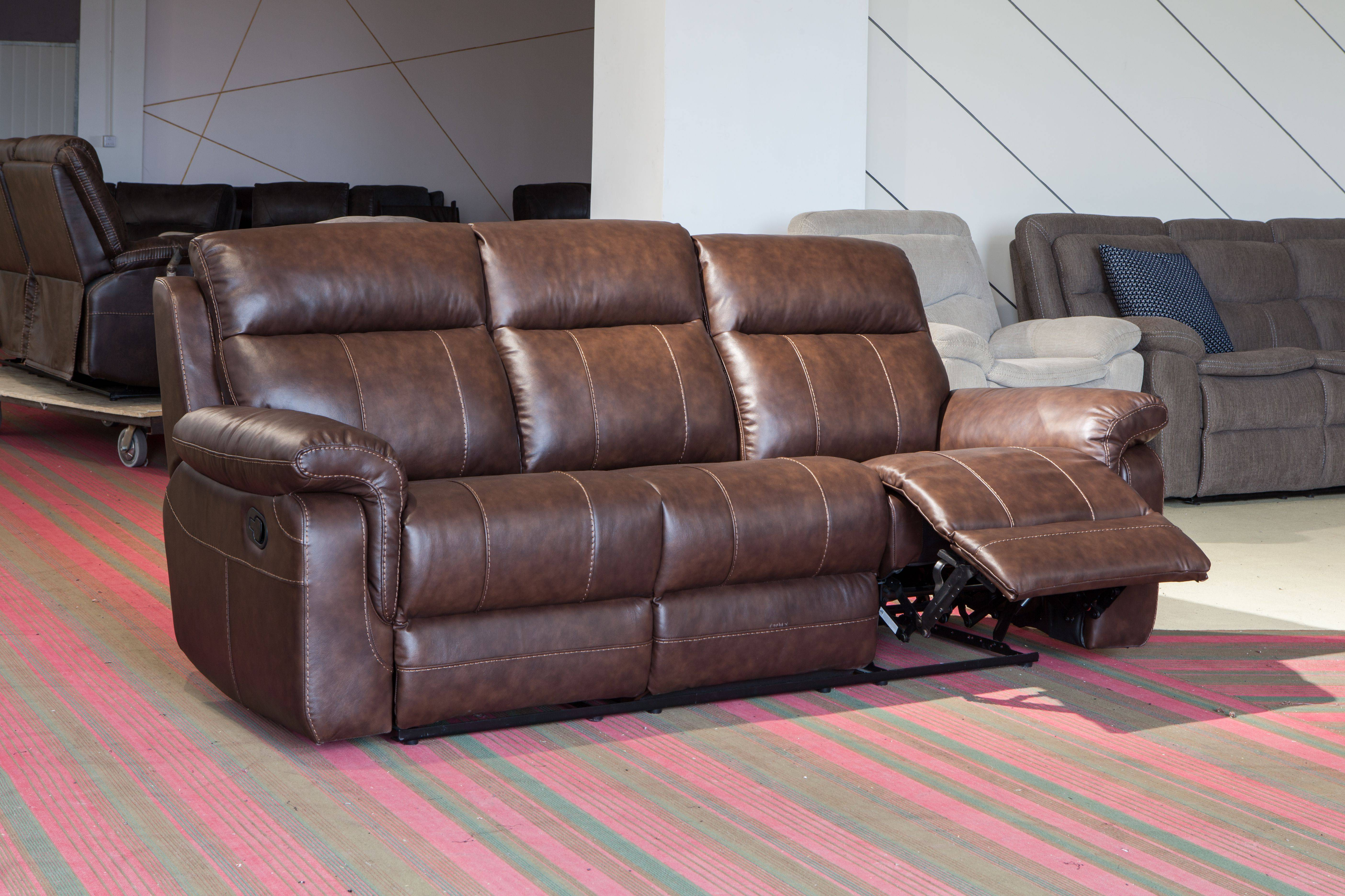 China Factory best selling Corner Recliner Leather Sofa With