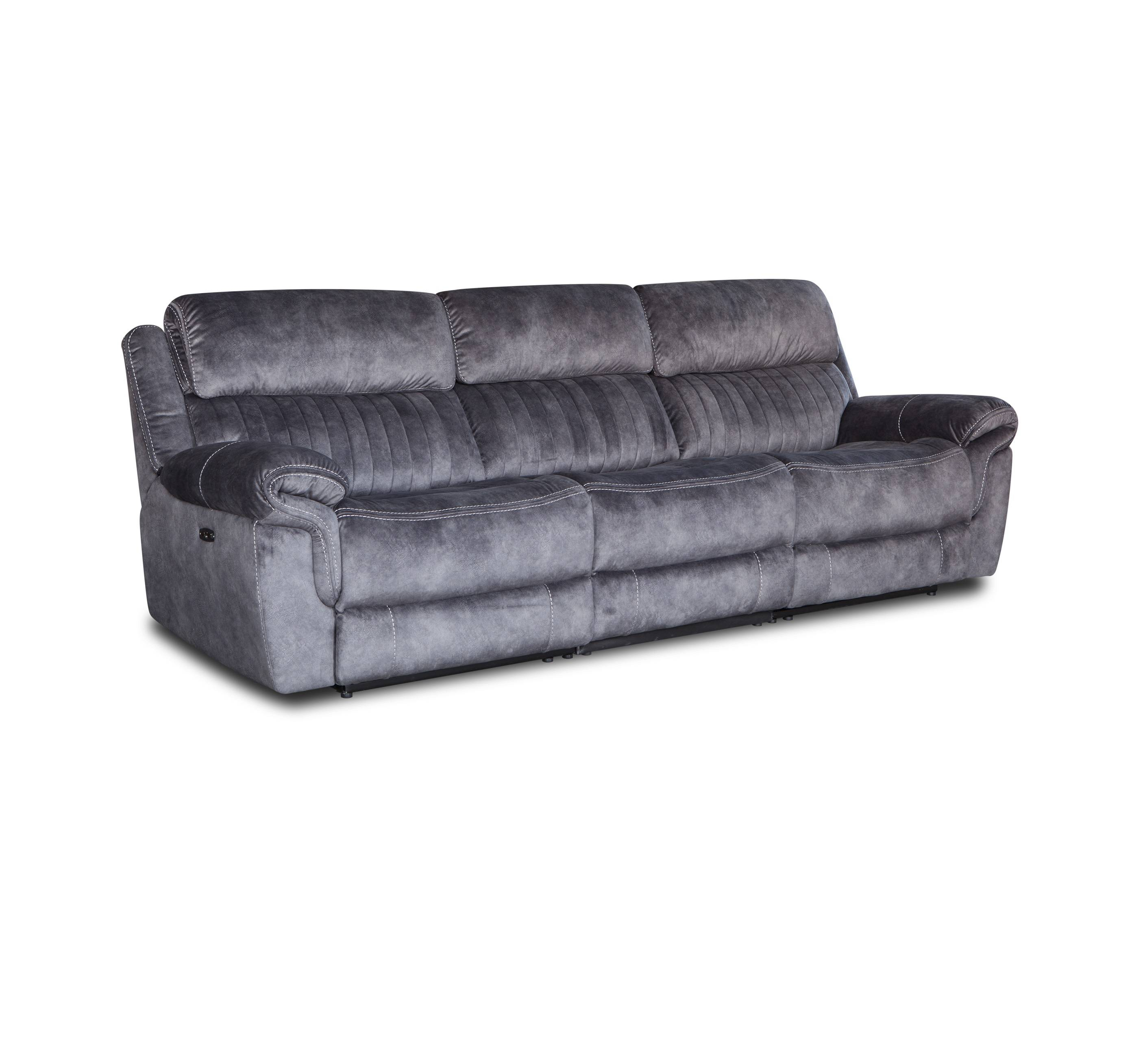 American modern design 3 seat soft recliner fabric sofa
