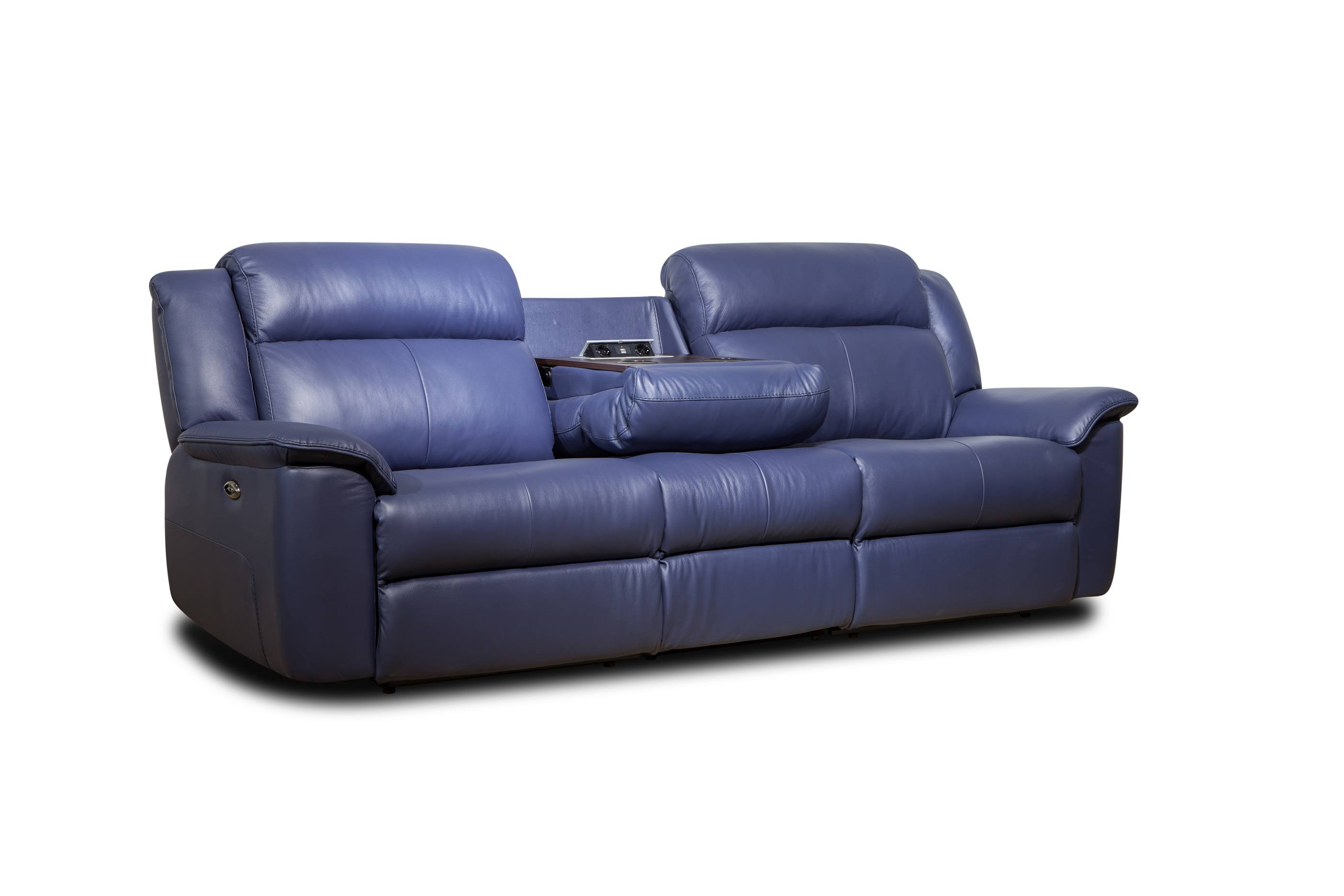 Modern high quality electric 3 seater leather recliner sofa