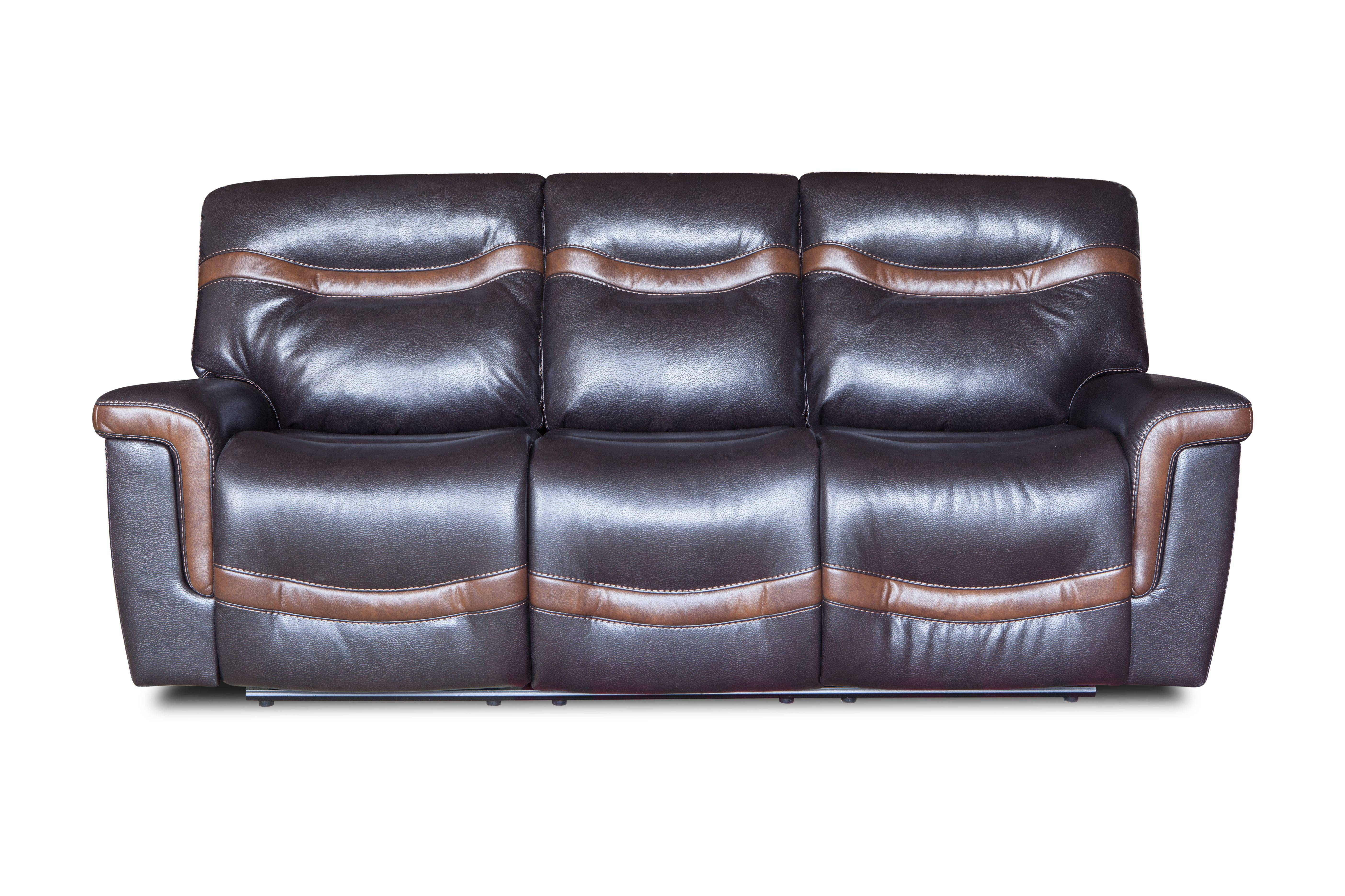 Unique design modern genuine leather single seat recliner sofa