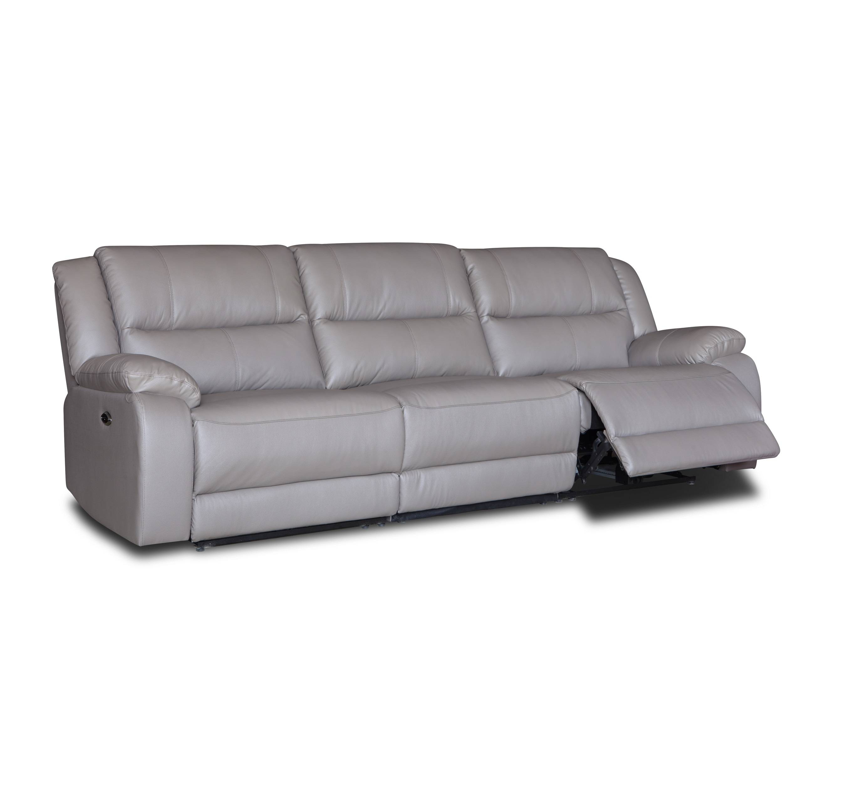 Royal home furniture 3 seater top grain leather recliner sofa set