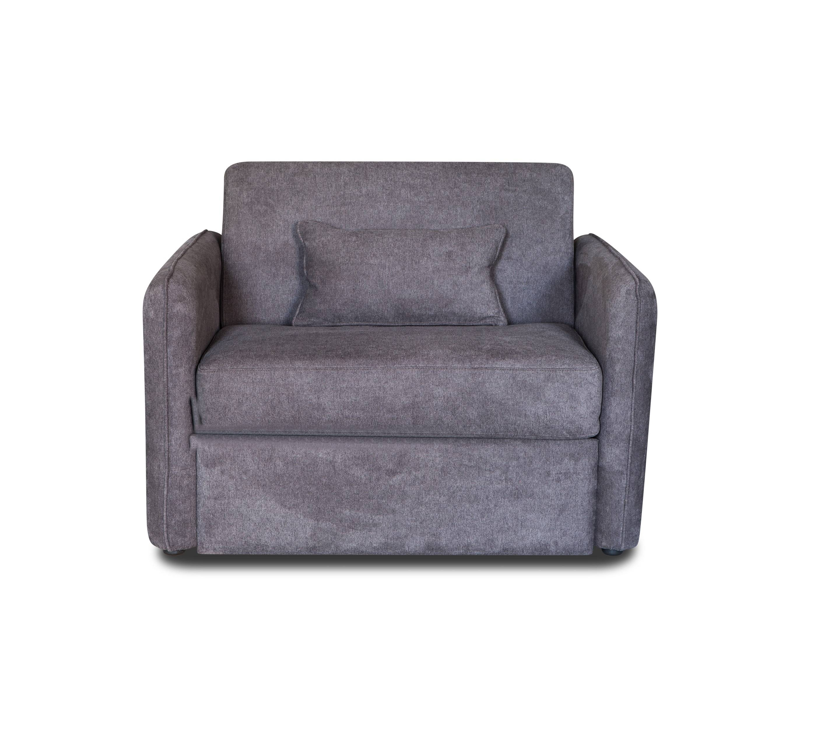 Royal grey fabric soft leisure single seat sofa chair