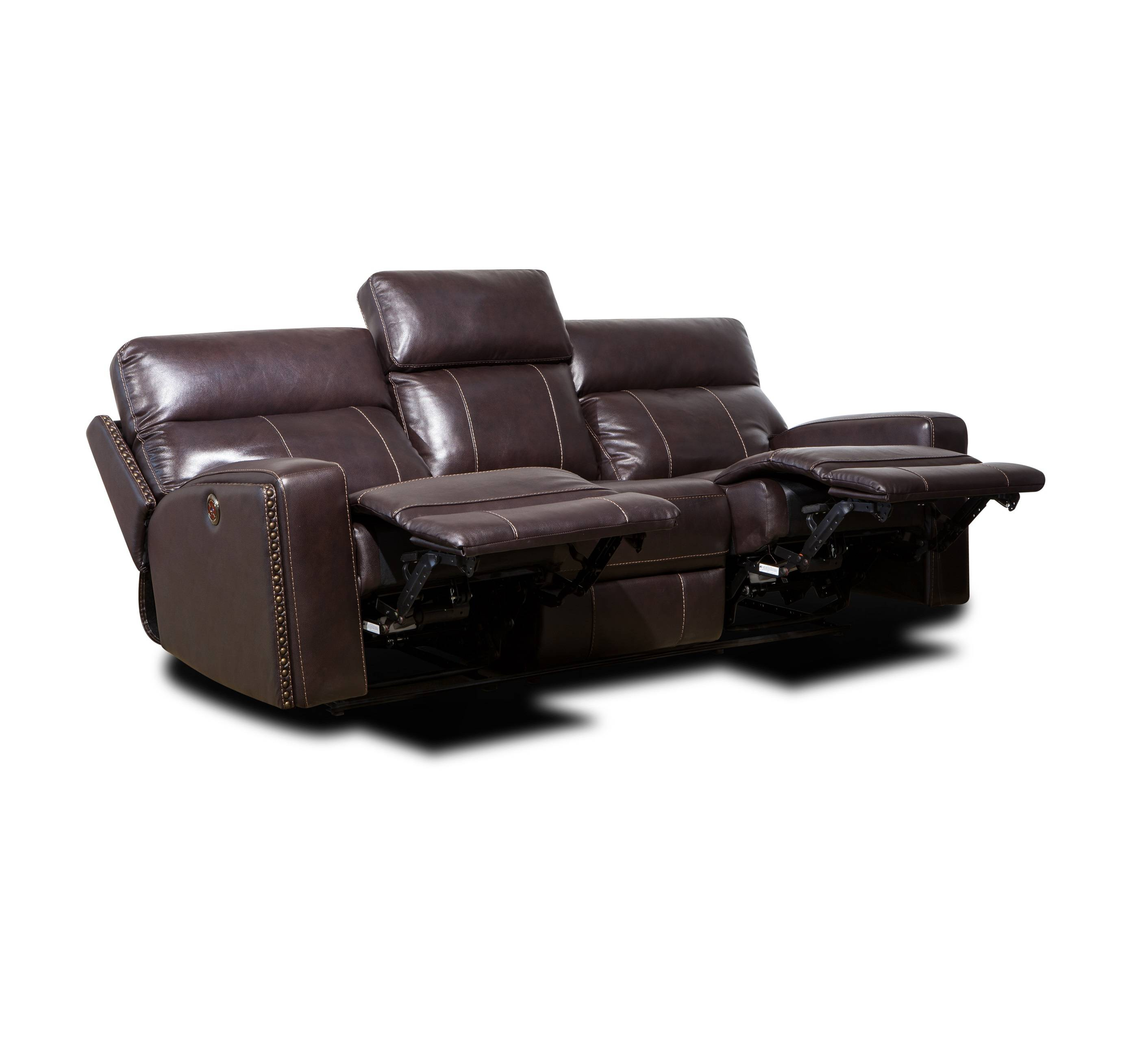 2019 latest recliner comfortable genuine leather 1 2 3 sofa set