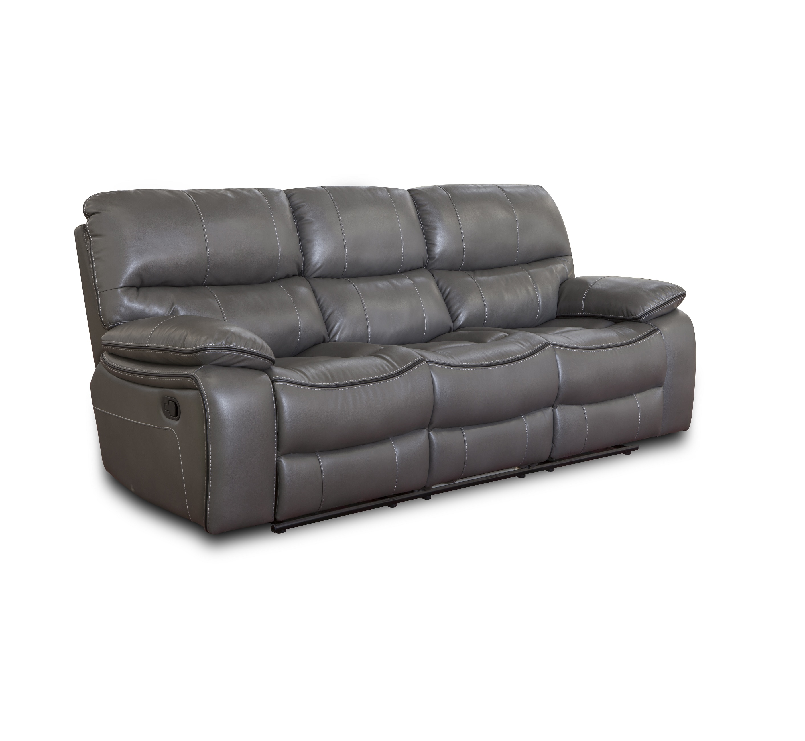 Wholesale cheap price synthetic Leather manual 3 seater recliner sofa