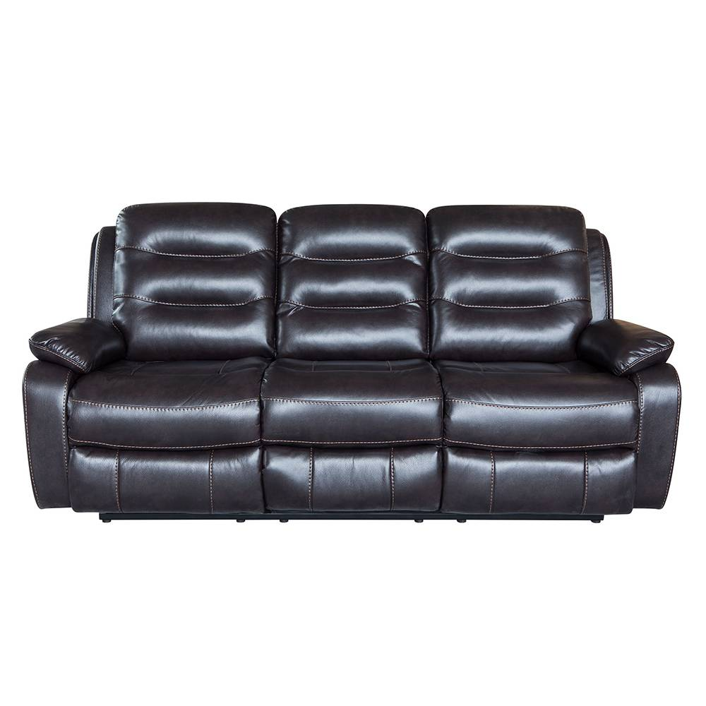 2019 High quality home furniture leather 3 seat recliner sofa Featured Image