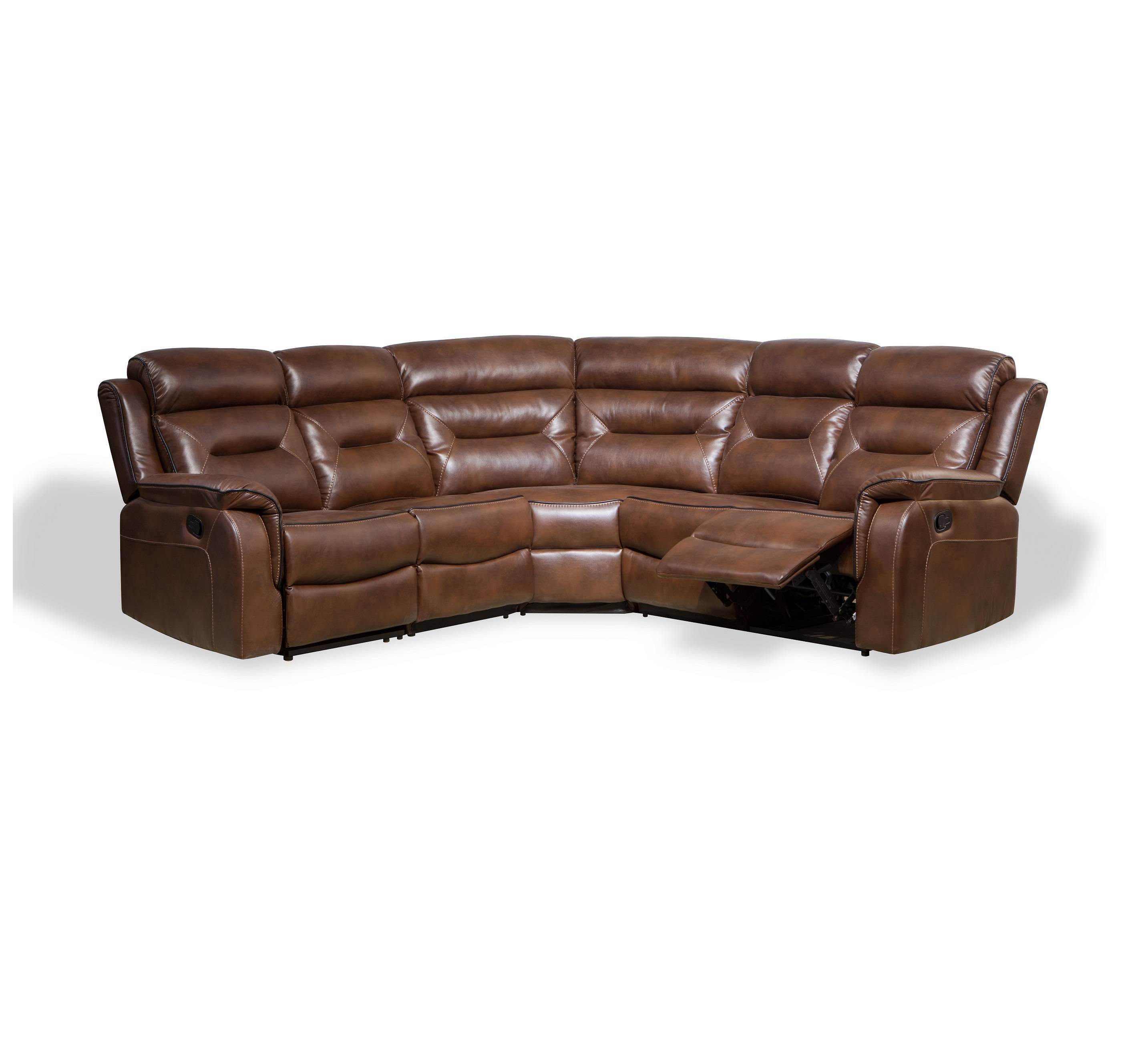 Fashion style italian genuine leather swing recliner sectional sofa