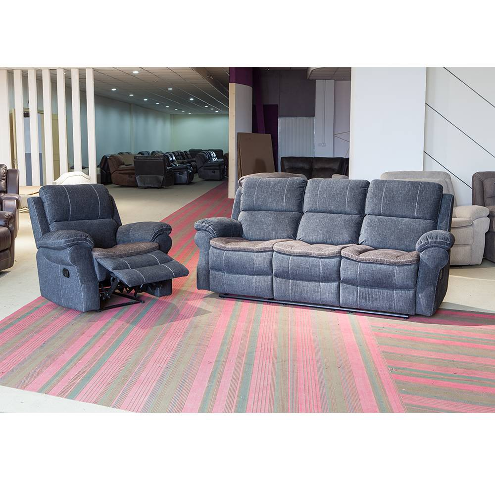 Best manufacturer factory price living room fabric recliner sofa sets