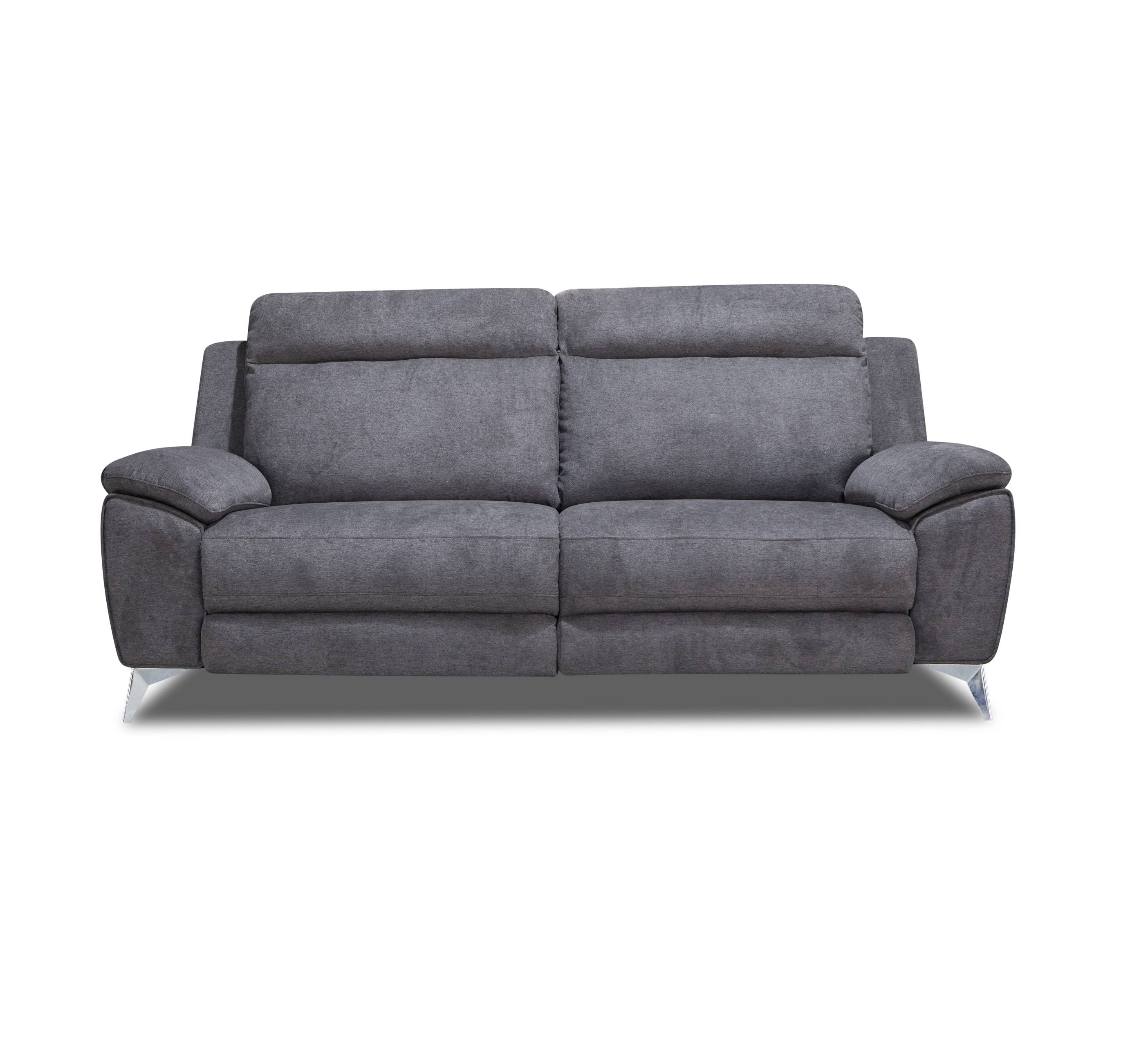 Modern leisure soft fabric power reclining loveseat