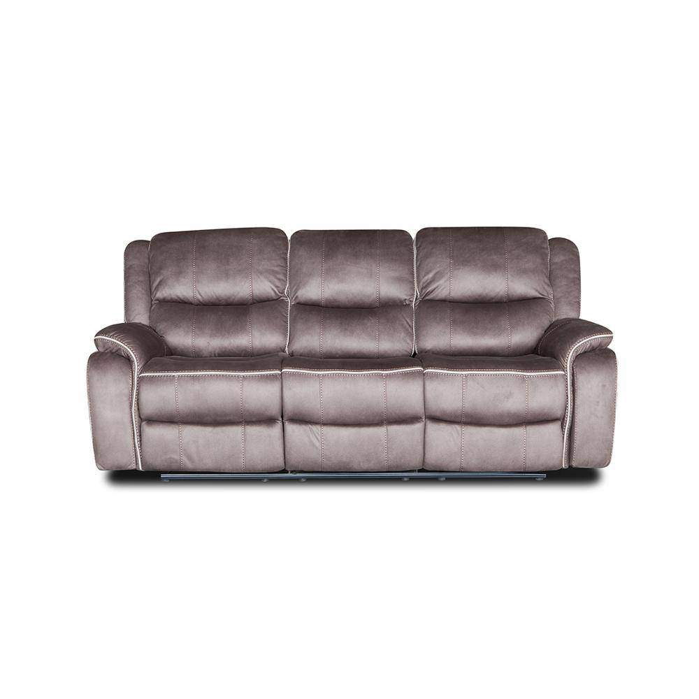 European style leisure leather recliner corner sofa set