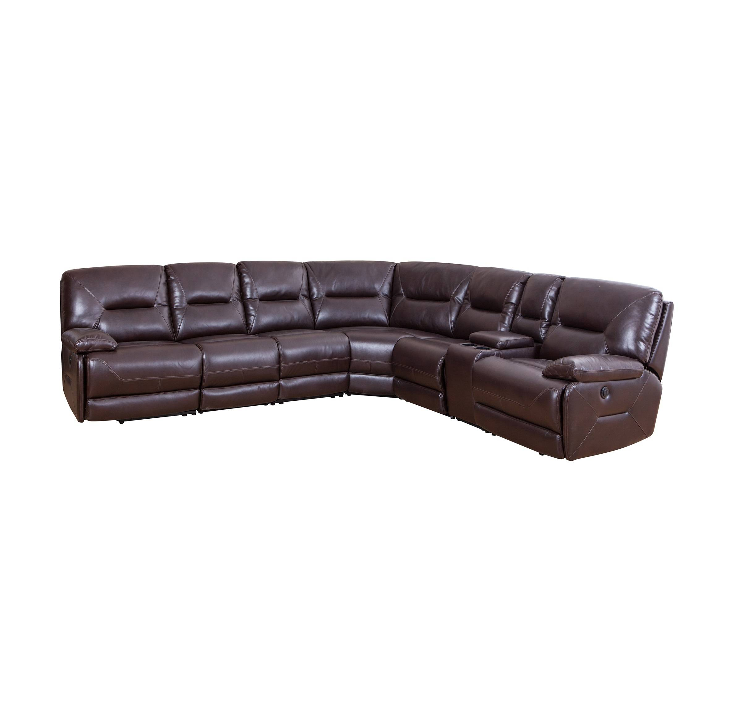 Royal living room furniture leather recliner sectional sofa with cup holder