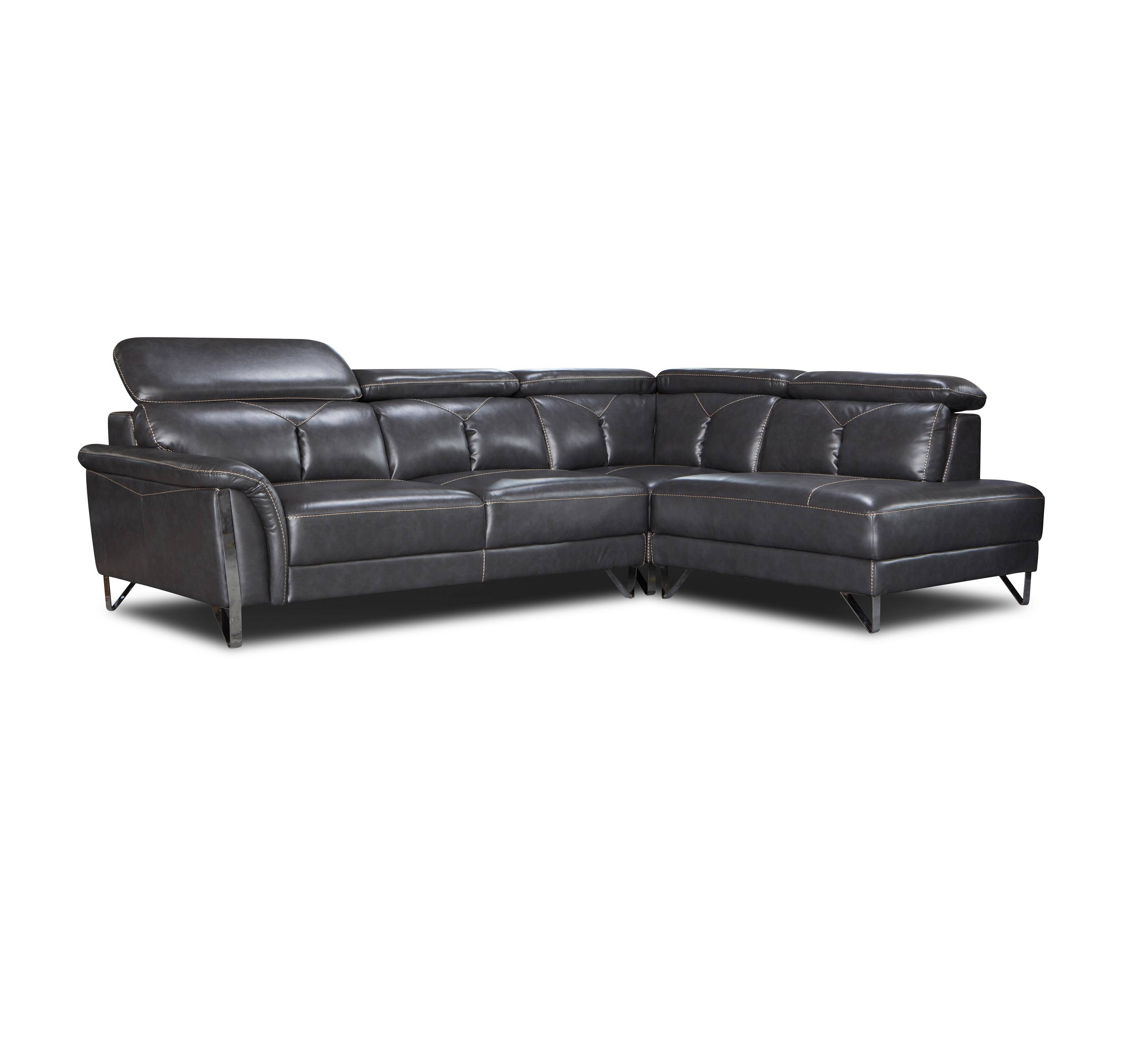 2019 latest leisure leather corner lounge sofa chaise