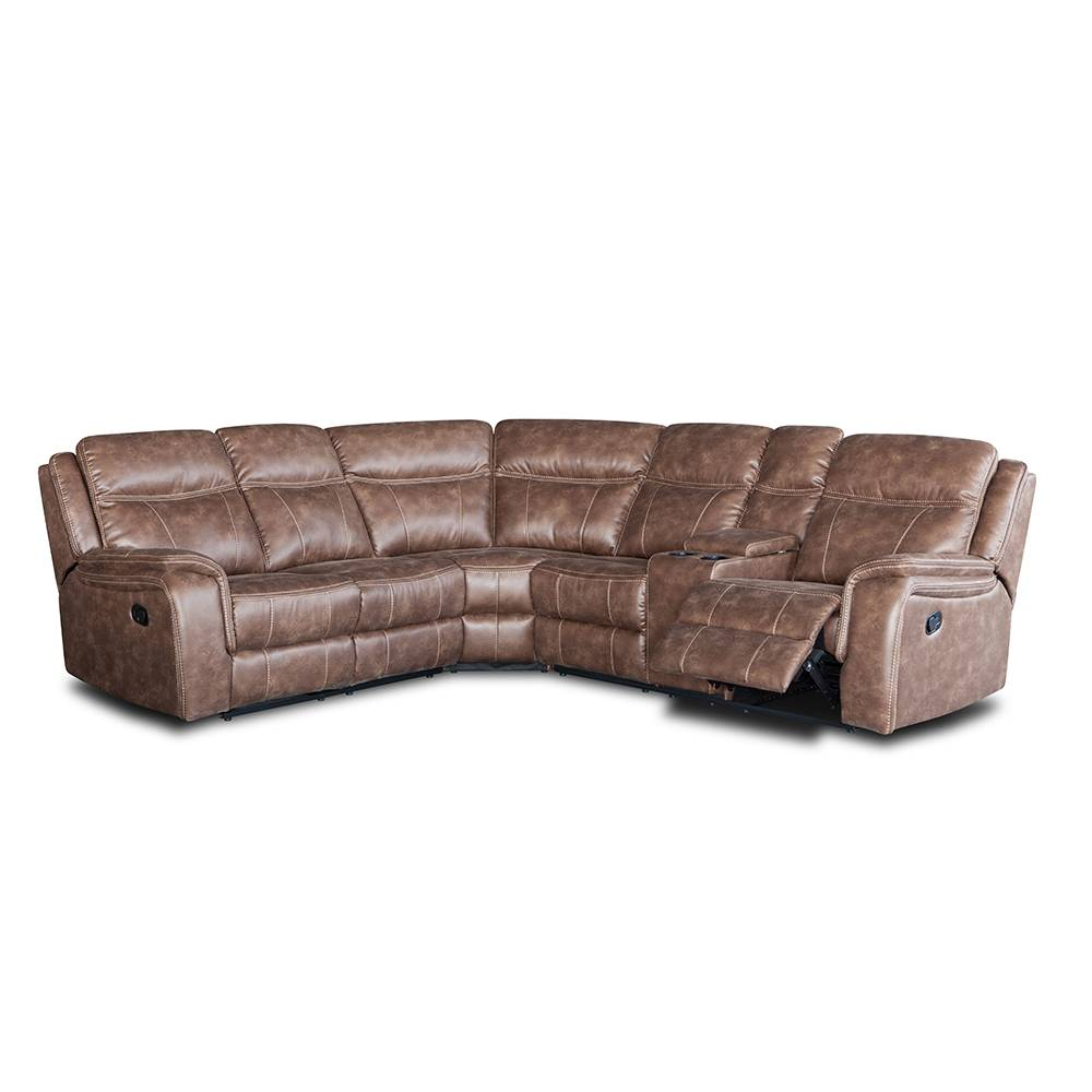 Cheap cinema corner leather sectional sofa set with cup holder