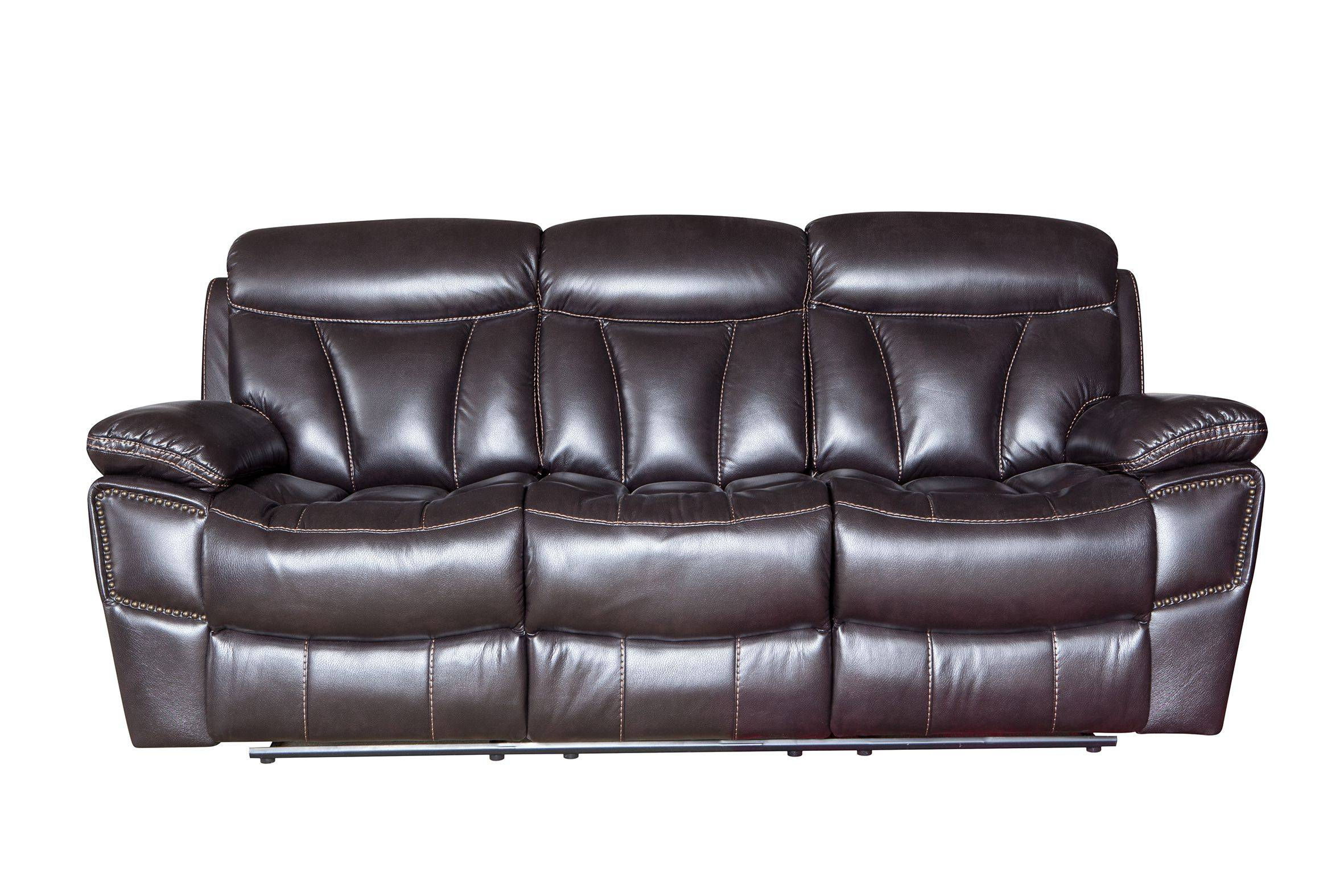 Good quality leather recliner sofa 3 2 1 modern for living room