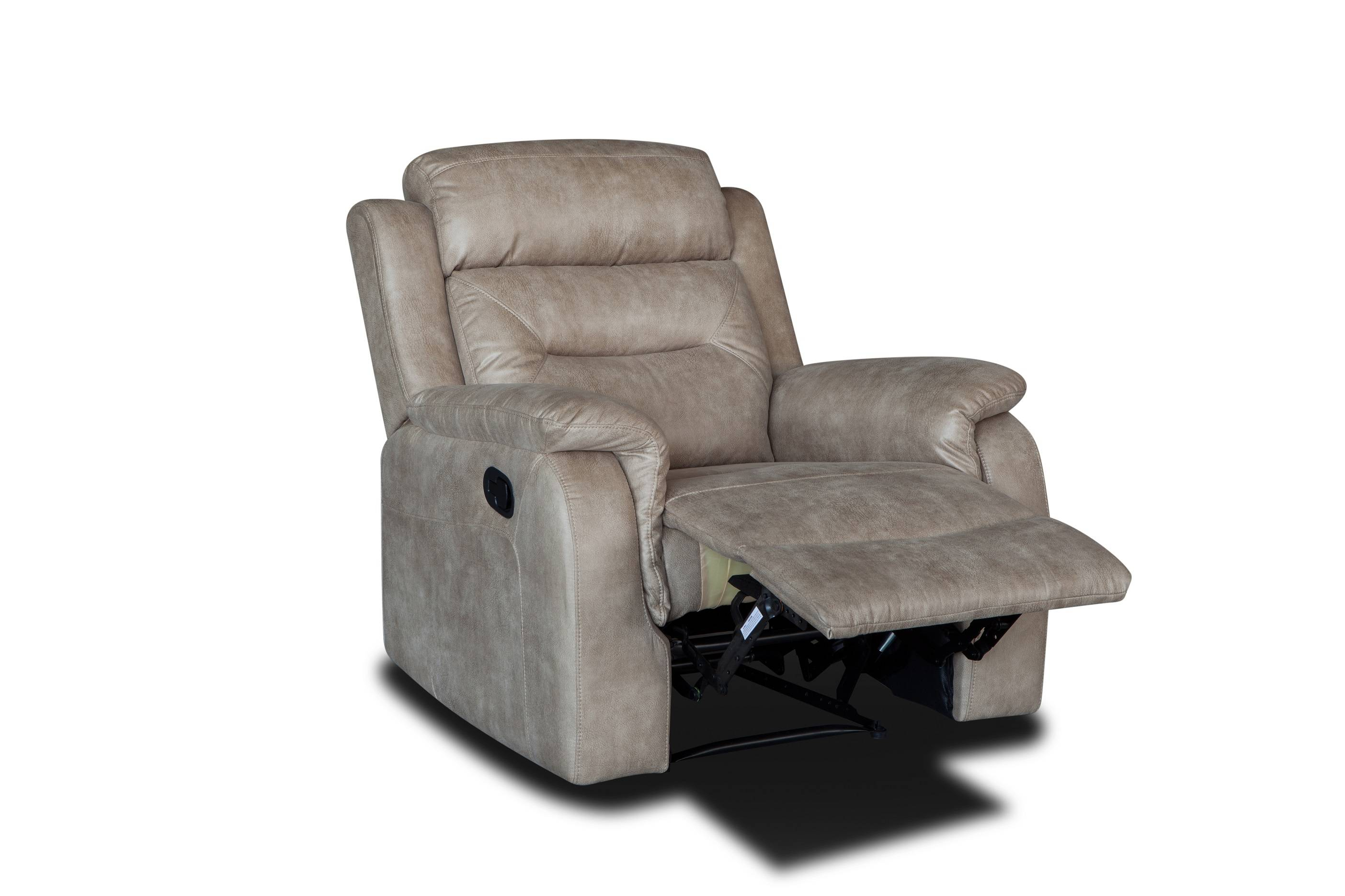 Wholesale cheap price real leather manual recliner sofa