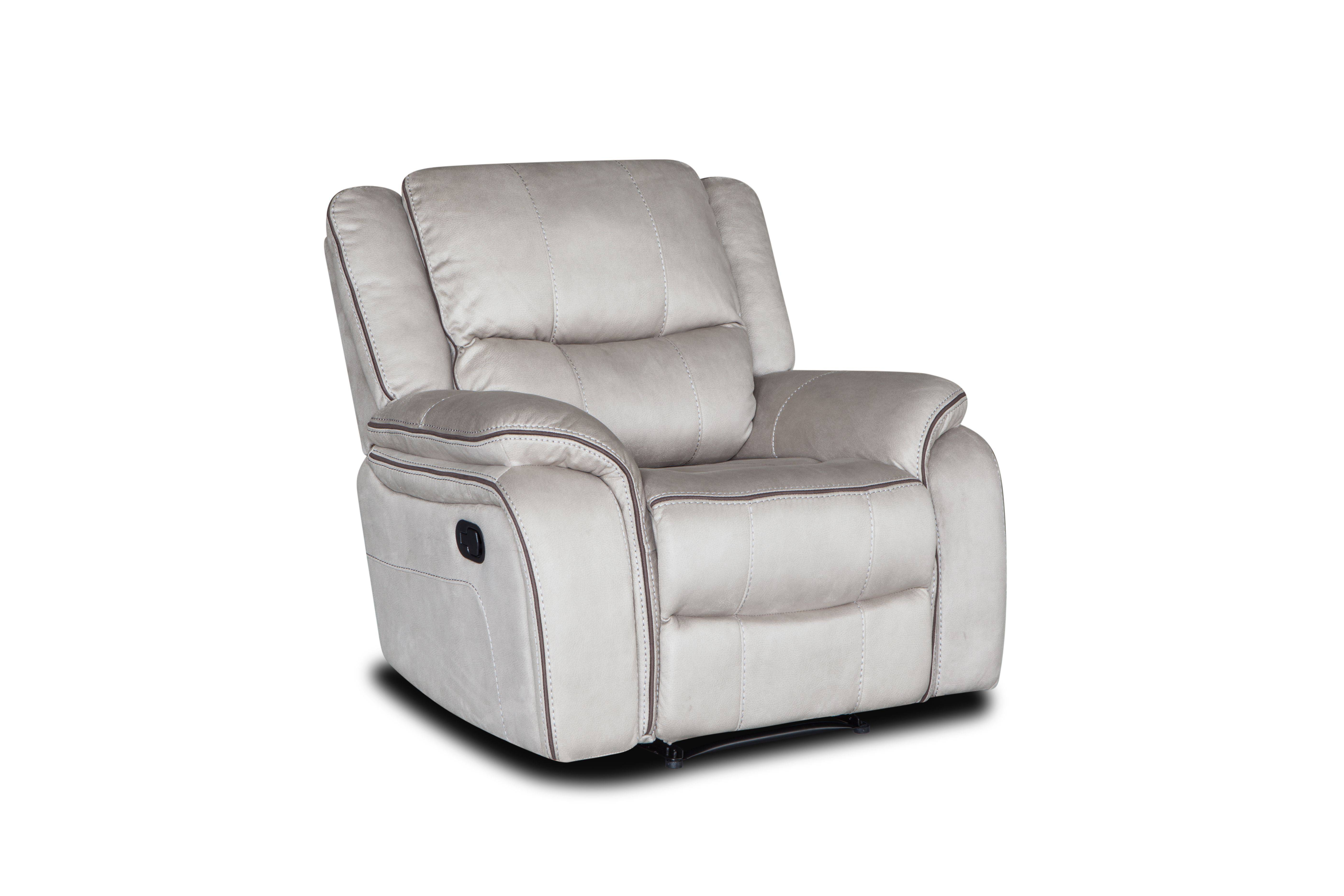 China genuine leather 3 seater comfortable recliner sofa set