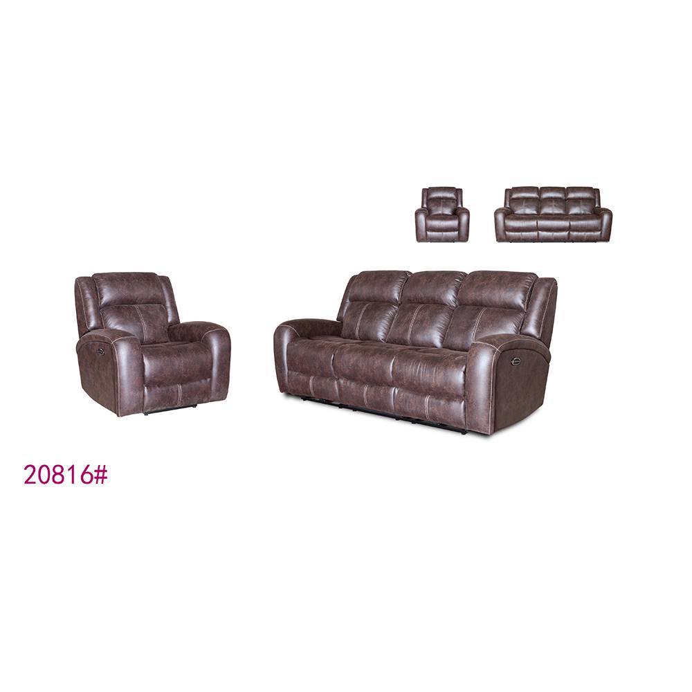 New modern design genuine leather furniture corner sofa