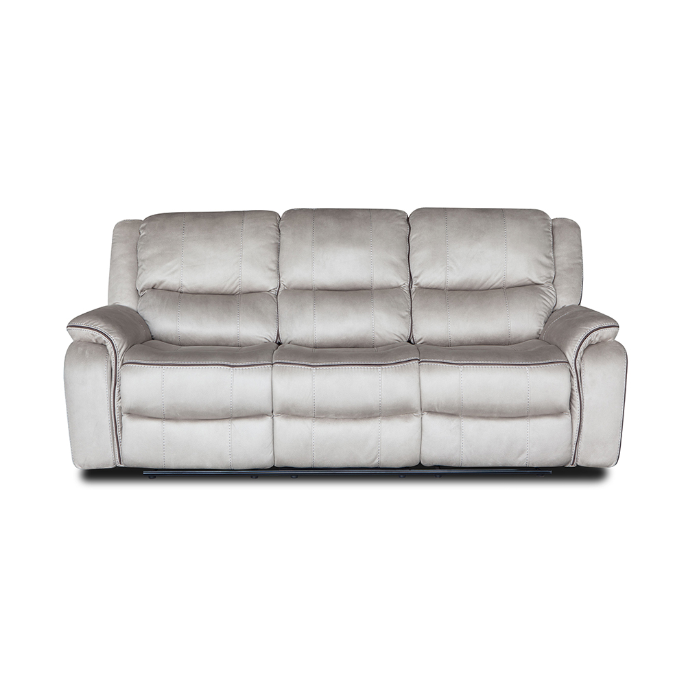 Natural and comfortable living room white leather recliner sofa