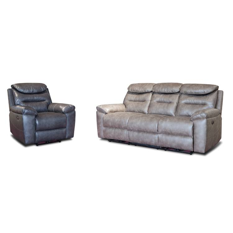 Lazy boy living room 4 seater leather power recliner sofa