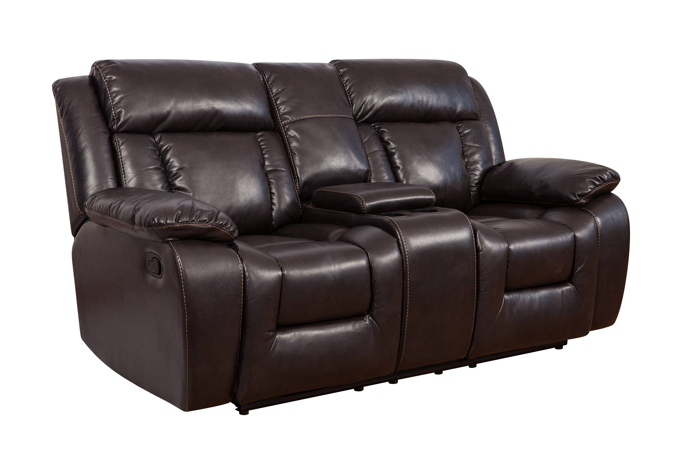 On sale modern red leather sofa living room with cup holder cinema furniture