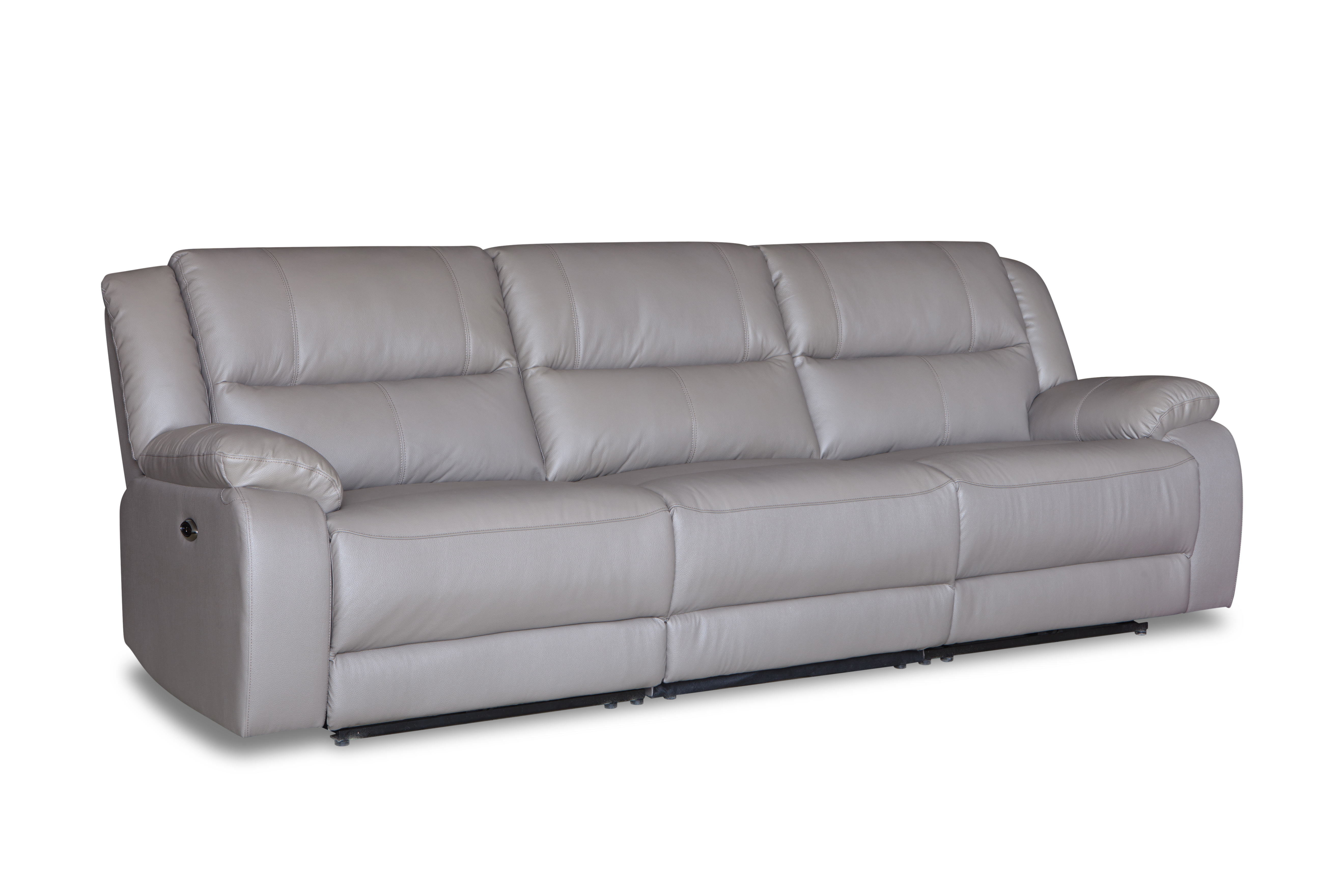 Modern and simple design living room leisure leather recliner sofa