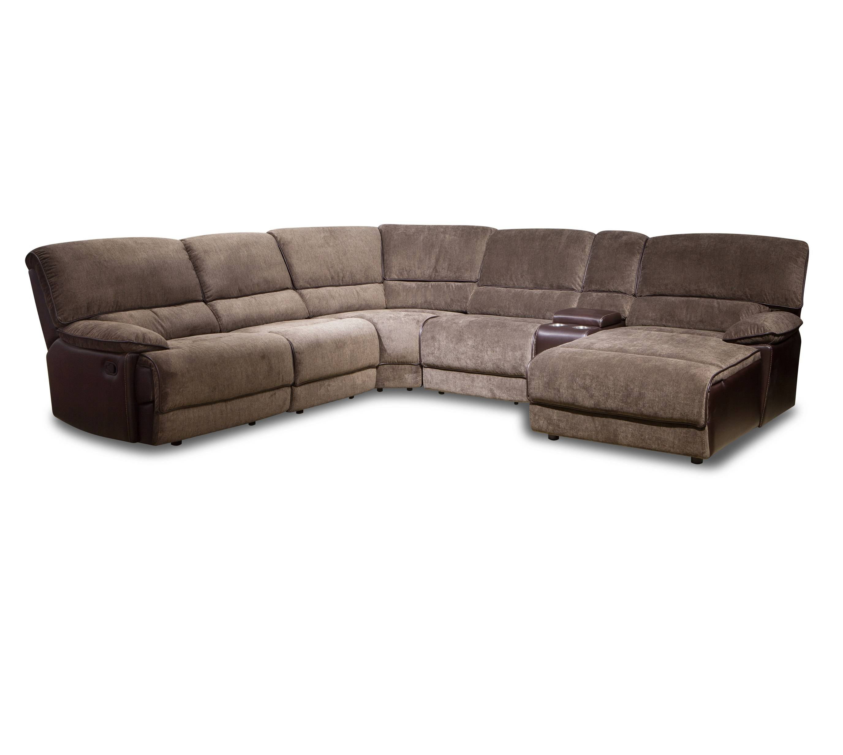American style fancy relax fabric recliner sectional sofa with cup holder