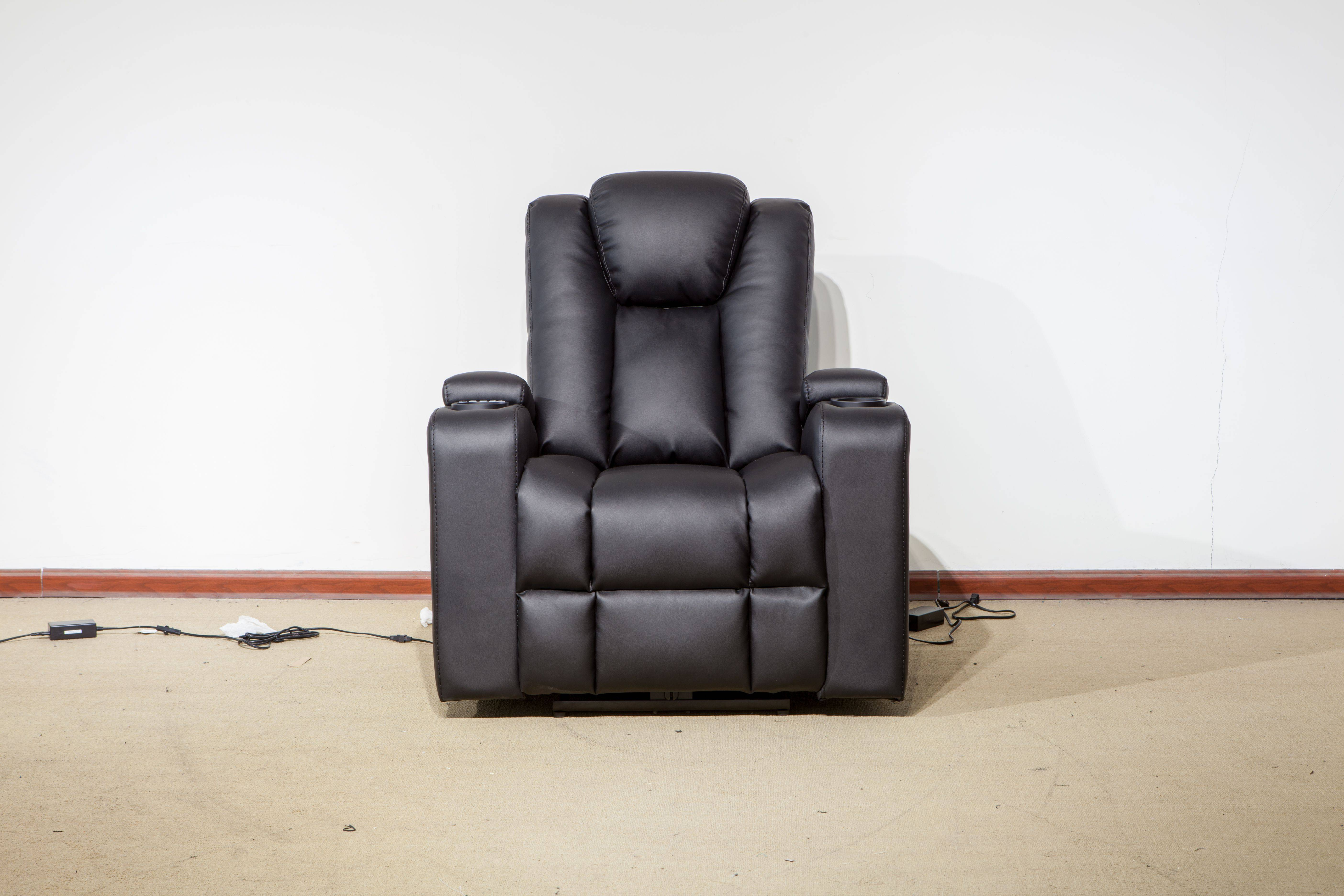 Super luxury and modern simplicity power electric genuine leather recliner sofa