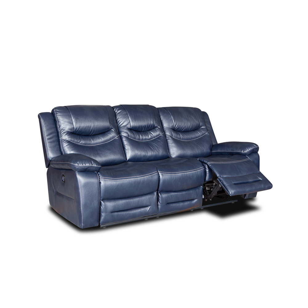 Hot sale living room modern furniture style leather recliner sofa