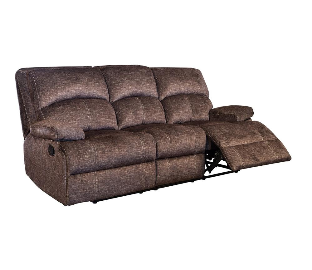 Italian modern style fabric multi-functional recliner sofa set