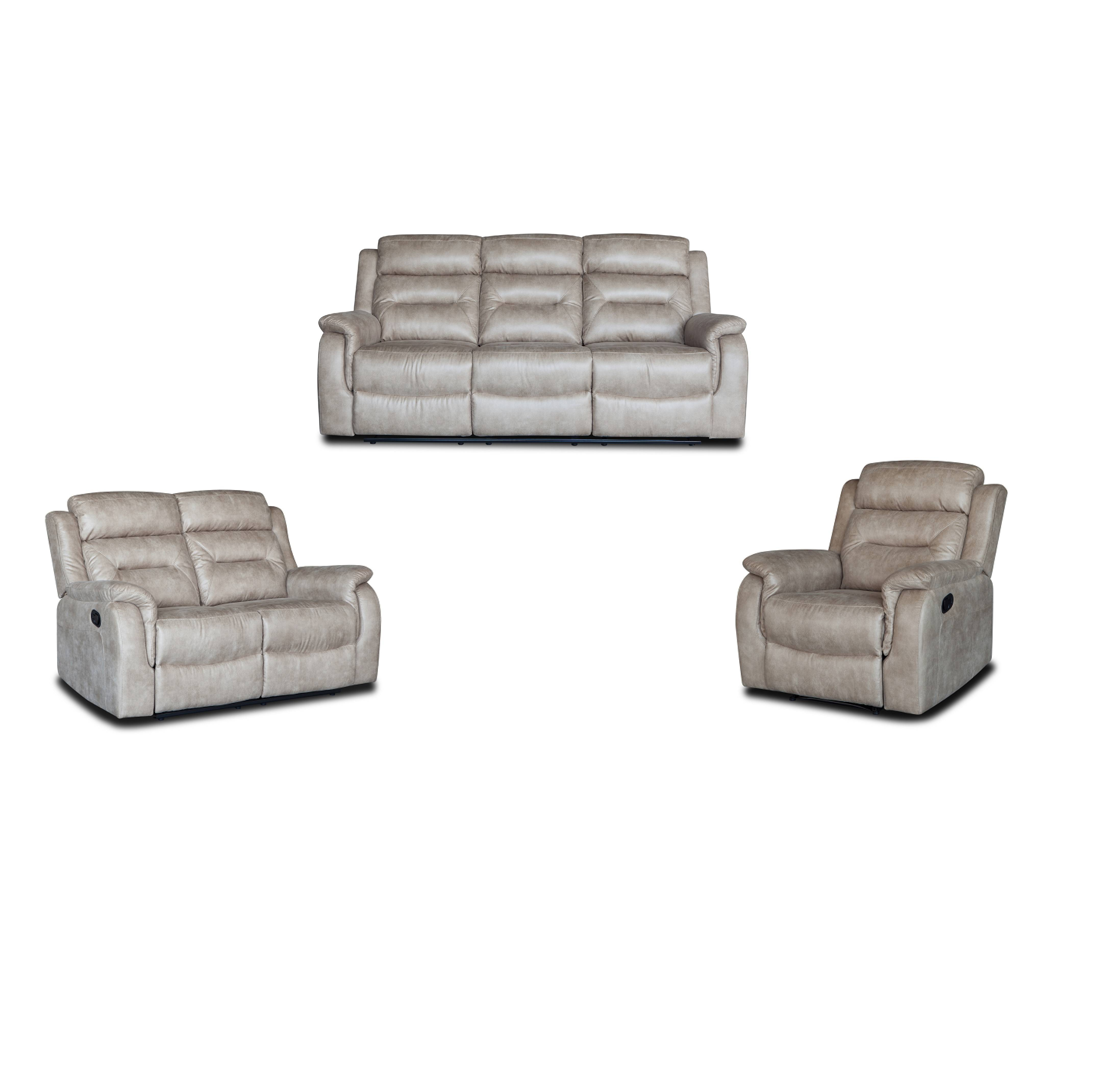 Wholesale cheap price real leather manual recliner sofa Featured Image