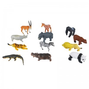 12pcs wild animal Set in Tub
