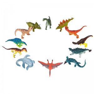 12pcs Dinosaurs Set in Tub