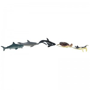 6pcs Sea animal Set in tub A