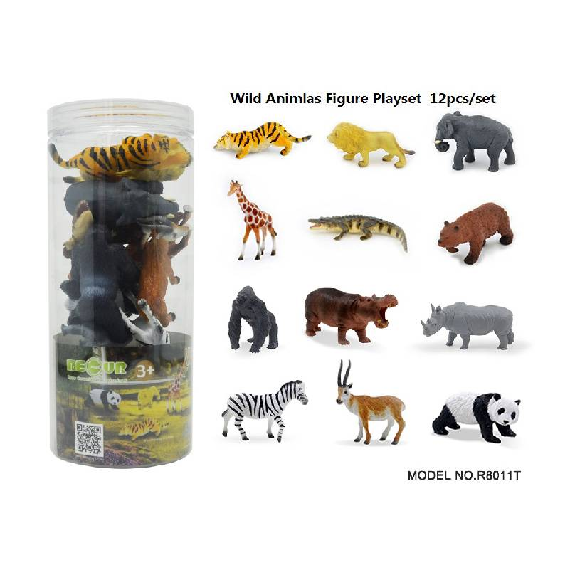 12pcs wild animal Set in Tub Featured Image