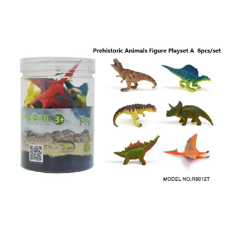 6pcs Dinosaurs Set in Tub A Featured Image