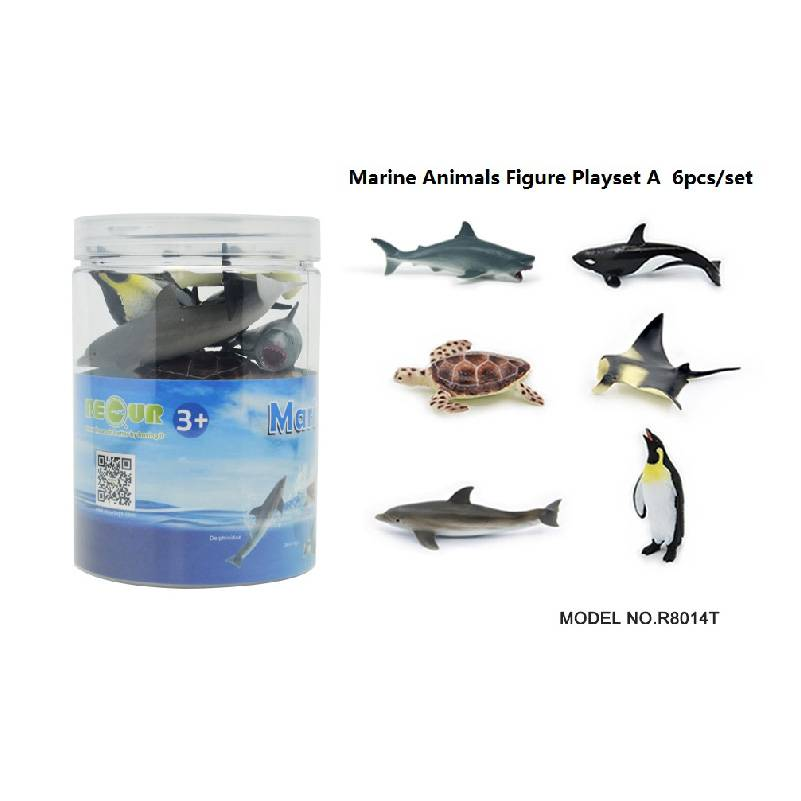 6pcs Sea animal Set in tub A Featured Image