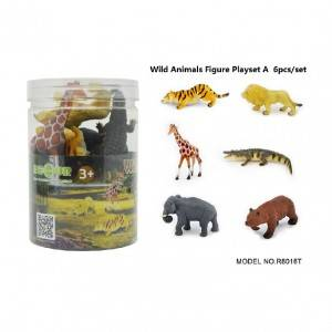 6pcs wild animal Set in Tub A