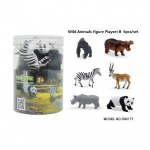 6pcs wild animal Set in Tub B