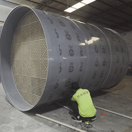 PPS flame retardant spray tower production site Featured Image
