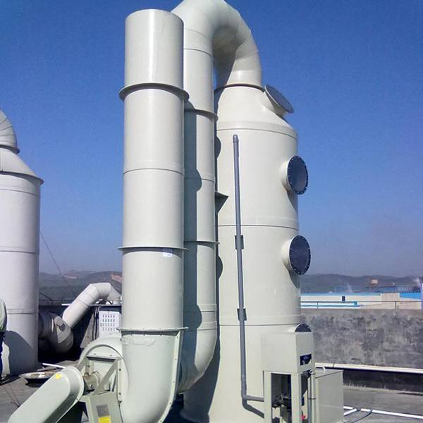 The structure of the exhaust gas purification tower is a device for absorbing operation