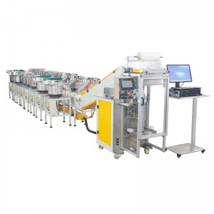 Mixed hardware accessories counting packaging machine
