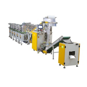 Multi-variety mixing packing machine with rechecker