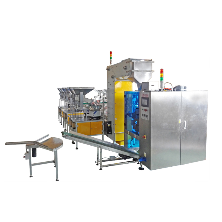 Lapel Packing Machine with Z Bucket Chain Elevator and Feeder Hopper
