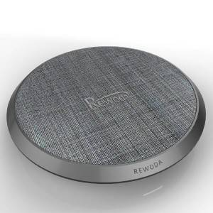 Wireless charger RWD005T-Plastic base+ PU with linen finish