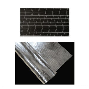 Non-woven laid scrims fabric netting mesh laminated for flex duct packaging