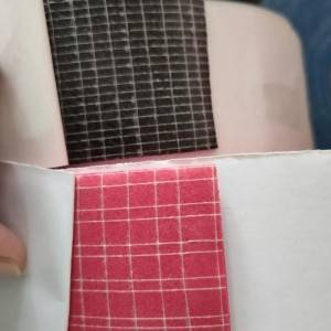 Double face double side polyester laid scrim netting fabric mesh tape adhesive paper tape